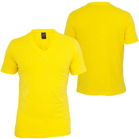 Kaos Basic V Neck Yellow the gallery for gt blank t shirt model front and back