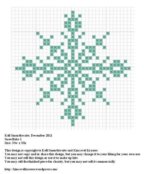 snowflake pattern cross stitch snowflake 1 cross stitch pinterest