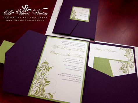 purple and green wedding invitations purple wedding invitation a vibrant wedding