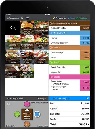 pay at table pos complete pos system for service restaurants