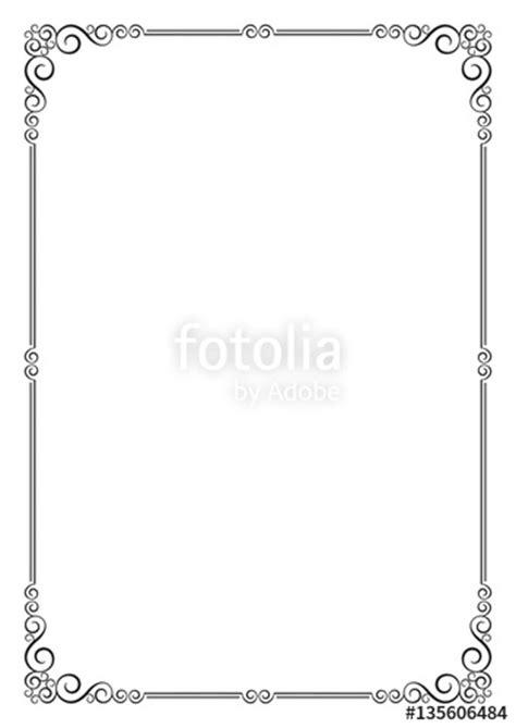 ornate frame template  card certificate diploma