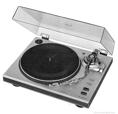 sanyo tp  semi automatic turntable manual vinyl engine