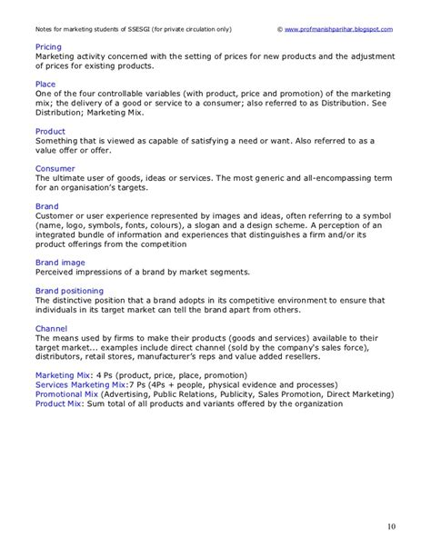 Marketing Strategy Mba Notes Pdf by Marketing Notes