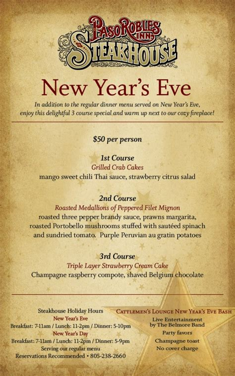 new year dinner menu new years dinner entertainment ideas new year