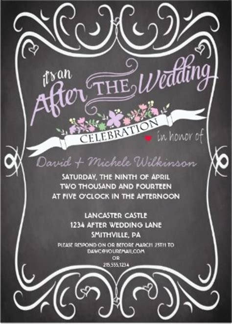 Wedding Announcements After The Wedding by At Home Reception Invitation Etiquette Destination