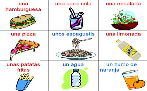 spanish foods list food and drink year 7 spanish