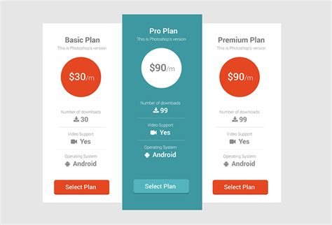 table design inspiration 25 creative pricing table designs for inspiration hongkiat