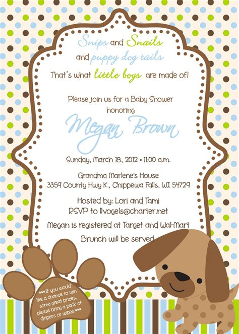 puppy themed baby shower puppy theme baby shower invitations should ve been a planner