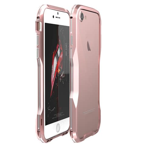 Luphie Metal Bumper Aluminium Iphone 7 Plus 8 Plus Merah Hitam shockproof luphie slim aluminum metal bumper cover for iphone x 7 8 plus ebay