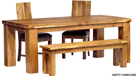 dining table bench chairs acacia dining table large with bench and 4 chairs