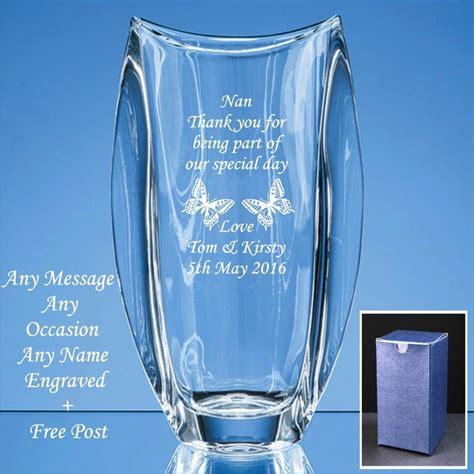 Vase Engraved Gift by Personalised Engraved Vase Wedding Gifts