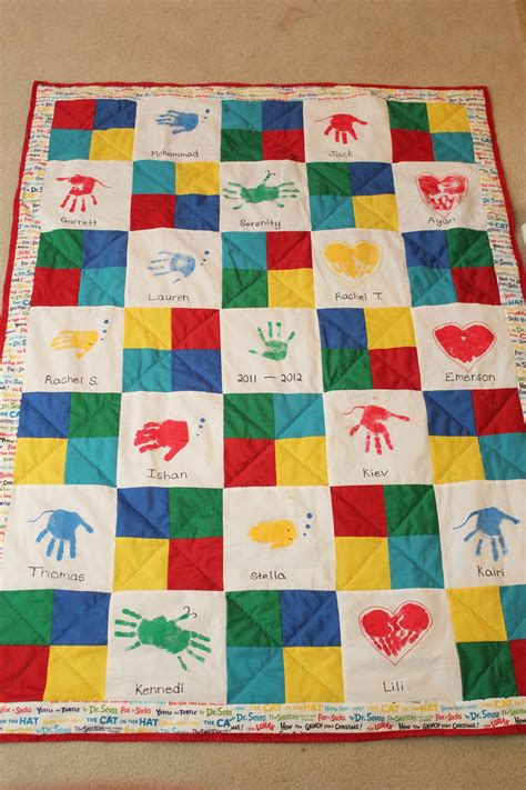 The Quilt Project by Clever Faeries Class Auction Handprint Quilt