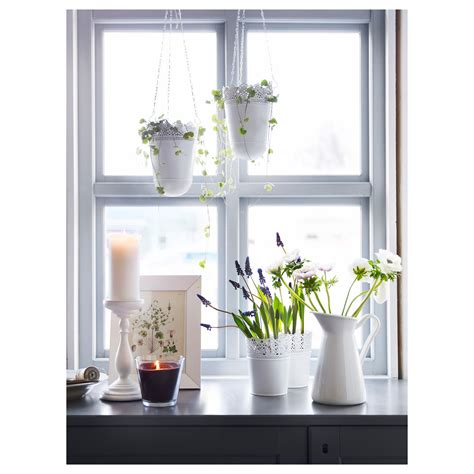 ikea planters skurar hanging planter in outdoor off white 12 cm ikea