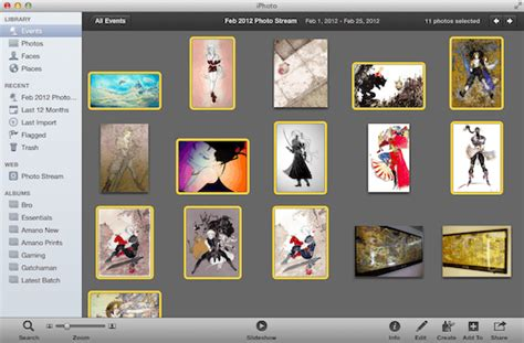 create web galleries and calendar from iphoto for mac