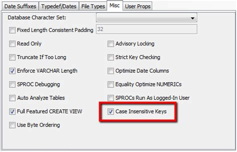 Sql Insensitive Search Key Index Casing