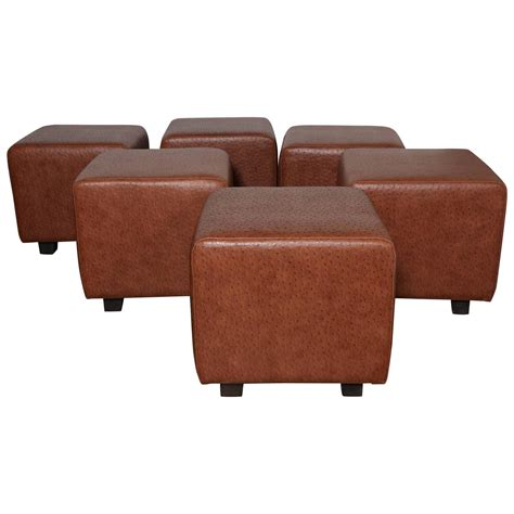 made ottoman custom made ottomans set of 5 custom made square leather