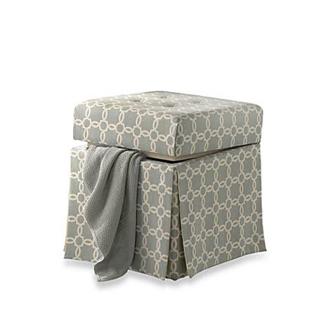 vanity chairs with storage patterned storage vanity stool bed bath beyond
