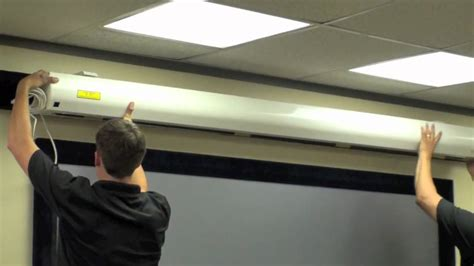How To Mount A Projector Screen On The Ceiling by Performance Motorized Install