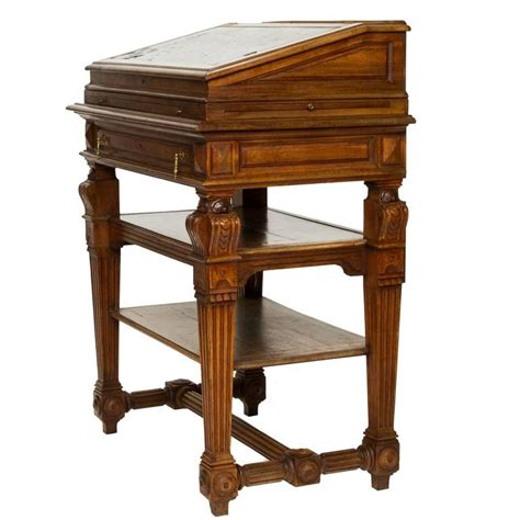 French Renaissance Walnut Stand Up Writing Desk At 1stdibs Standing Writing Desks