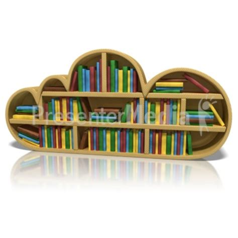 cloud bookshelf science and technology great clipart