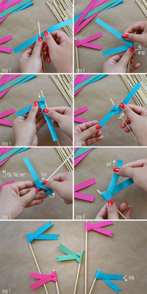 How To Make Paper Bunting Banners - the yuppie lifestyle how to make paper ribbon flags