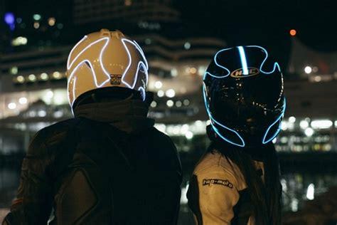motorcycle helmet light kit lightmode turns motorcycle helmets into futuristic looking