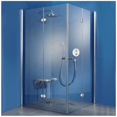 duschen ebenerdig 172 hsk exklusiv eckeinstieg mit drehfaltt 252 r 80 x 90 x 185 cm