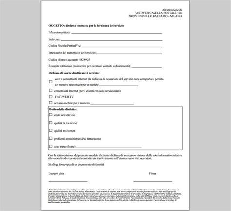 disdetta vodafone casa aduc tlc lettera vodafone assicurazione casco per