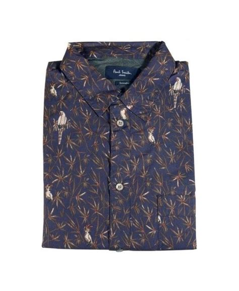 Sk7 Wash Sk 7 By C R P Shop paul smith navy parrot tailored fit shirt shirts from