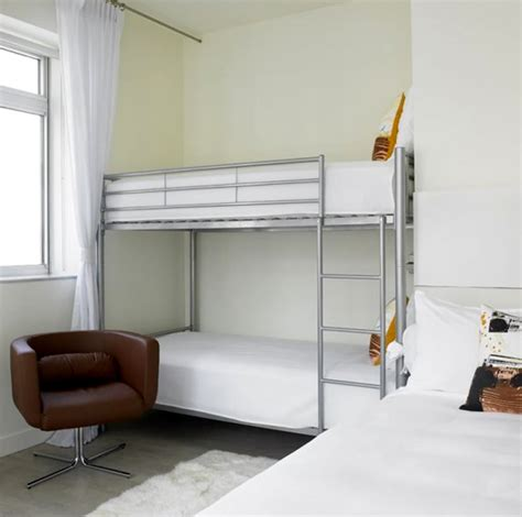 Bunk Beds Contemporary Modern Chic Bedroom Alcove Bunk Beds Furniture Design Nu Hotel Rooms Nyc Small