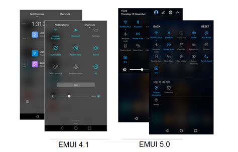 themes for emui 1 6 emui 4 1 vs emui 5 0 new feature upgrades honor official