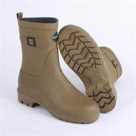 le chameau low boot womens wellington boots in green
