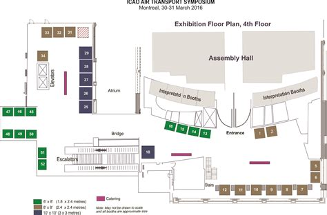 exhibition floor plan icao air transport symposium iats 2016 exhibitors