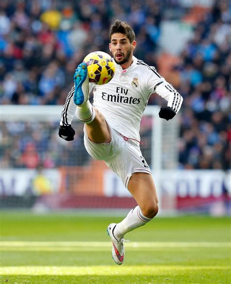 isco of real madrid in during the la liga match