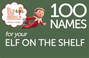 100 on the shelf name ideas printable