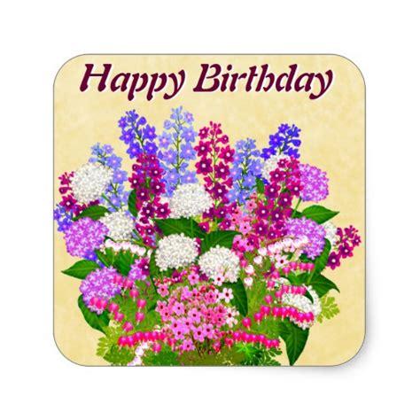 Gardening Happy Birthday Images Garden Flowers Happy Birthday Sticker Zazzle