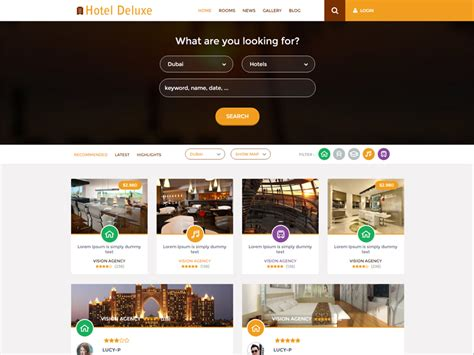 free bootstrap templates for resorts hotel deluxe free bootstrap hotel template freemium download