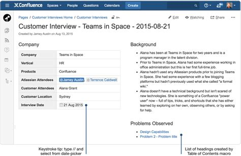 creating insightful customer interview pages atlassian