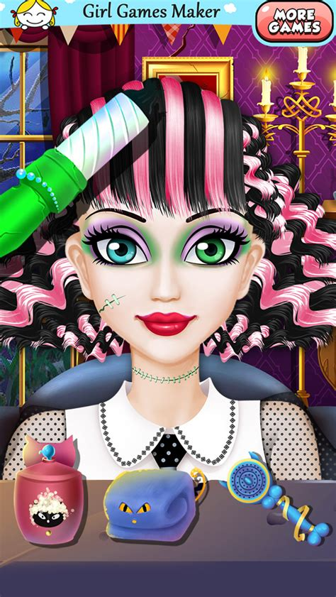 halloween hairstyles games app shopper monster girls crazy halloween hair games