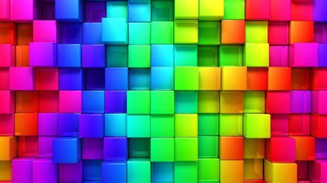 wallpaper 3d rainbow 3840x2160 wallpaper blocks rainbow 3d graphics
