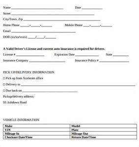 Car Hire Agreement Form In Kenya Car Rental Agreement Templates 6 Free Documents In Pdf
