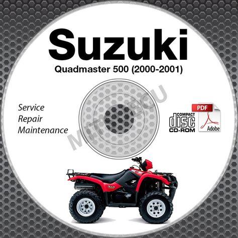 Suzuki Quadmaster 500 Service Manual 2000 2001 Suzuki Lt A500f Quadmaster 500 Service Manual Cd