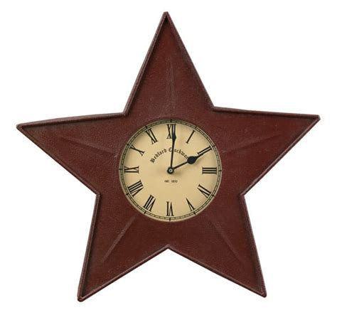 Metal Star Home Decor Red Star Metal Clock