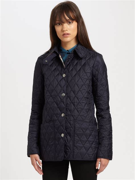 Burberry Brit Jacket Quilted by Burberry Brit Pirmont Quilted Jacket In Blue Lyst
