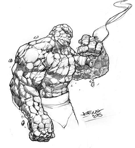 how to do sketching the thing sketch by ngboy on deviantart