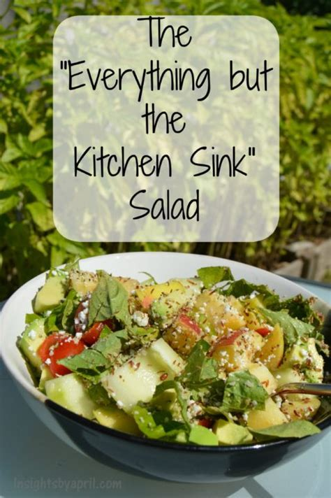 the everything but the kitchen sink salad soccer