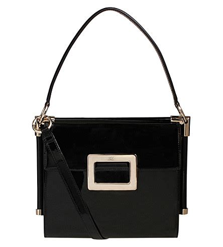 Small Patent Bay Shoulder Bag by Roger Vivier Miss Small Patent Leather Shoulder Bag