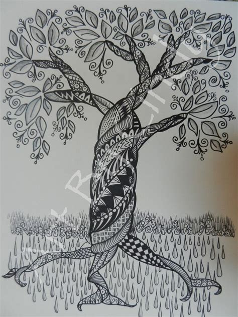 doodle draw tree zentangle tree by cre8iveart on etsy doodle