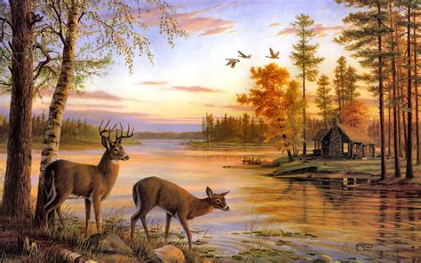 free computer painting free deer wallpapers wallpaper cave