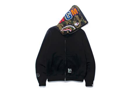 a bathing ape shark hoodie 10th anniversary collection hypebeast